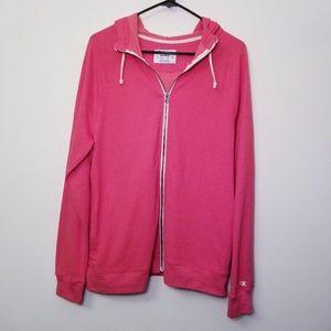 Champion XL Pink Full Zip Hoodie Sweatshirt